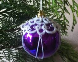 tatted lace christmas bauble tatted christmas tree decoration
