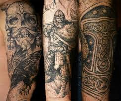 viking thors hammer tattoos on rib side for men photos pictures