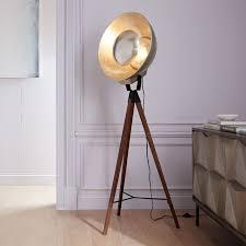 studio tripod floor lamp west elm