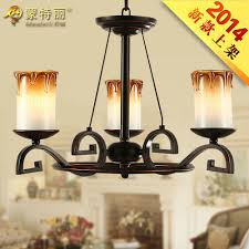 Wrought Iron Pendant Light Rustic Candle Style Pendant Antique Wrought Iron Pendant Light 3 Light