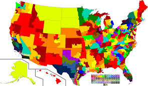Map Of States Of America by The United States Of America In All Its Gerrymandered Glory 2000