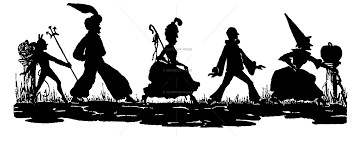 6454 trick or treat silhouette