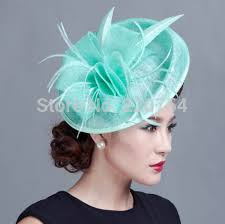 fascinators hair accessories large ivory feather sinamay hats women hair accessories