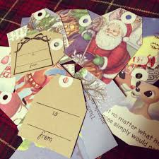 vintage book gift tags for christmas howd i y a craft blog
