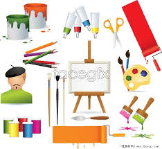 color paint brush vector free download