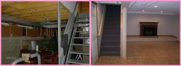 Finished Basement Contractors by Finished Basement Ideas Before And After And Basement Renovations