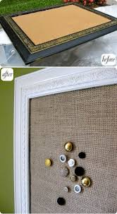 Cork Board Decorative Frame Frame Makeover After Repainting The Frame And Adding A Cork Layer