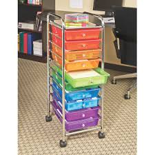 Laundry Room Storage Cart by Seville Classics 10 Drawer Organizer Cart Translucent Multi Color