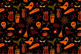 halloween repeating background patterns 2 halloween seamless pattern patterns creative market