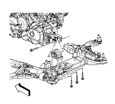 repair instructions on vehicle transmission rear mount bracket
