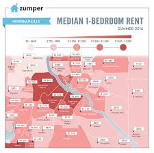 mapping minneapolis rent prices this summer june 2016 the