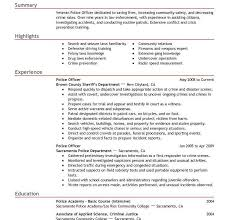 police officers resume security resume examples resume