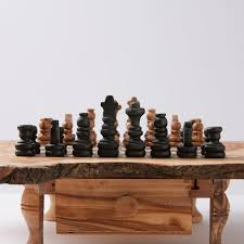 rustic chess set small beldinest touch of modern