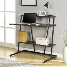 Ladder Bookcase Black by Unstained Wooden Ladder Putert Table With Tier Shelves Of Fbbb