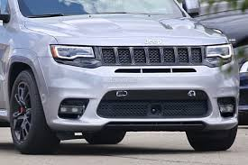 jeep grand cherokee rear bumper 2018 jeep grand cherokee trackhawk spied looks ready to pounce