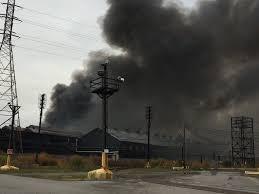 Overhead Door Buffalo Ny by Bethlehem Steel Fire 6 City Blocks Burn Near Buffalo Plume Could