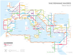 Subway Map Washington Dc by Ancient Rome U0027s Road Network Illustrated In The Form Of Colored