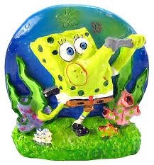 spongebob spongebob bubbles aerating ornament aquarium air decorations