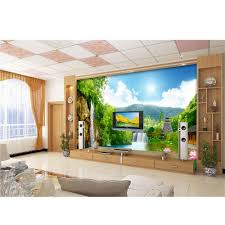 compare prices on adhesive wall paper online shopping buy low 3d murals wallpaper for walls tv background family diy art beautiful landscapes waterfall waterproof adhesive wall