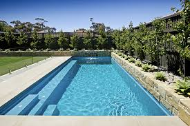 poolside designs simple backyard swimming pool designs with glass pool fencing and