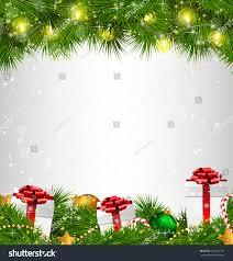 shiny tree gift boxes led stock vector 234281719