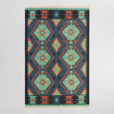 Multicolor Rug Multicolor Diamond Kilim Woven Darra Indoor Outdoor Rug World Market