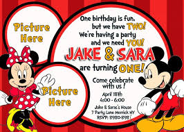 free printable baby mickey mouse 1st birthday invitations tags