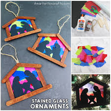 stained glass nativity ornament craft for i arts n crafts