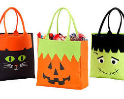 trick or treat bags monogrammed personalized trick or treat bag