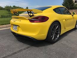 porsche cayman yellow 2016 cayman gt4 racing yellow 2300 miles rennlist porsche