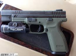 springfield xd tactical light armslist for sale trade springfield xd tactical 9mm od green frame