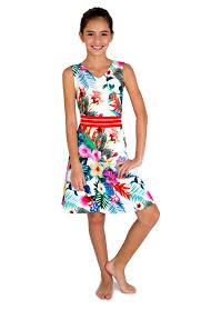 blush by us angels tween big girls 7 16 tropical island floral