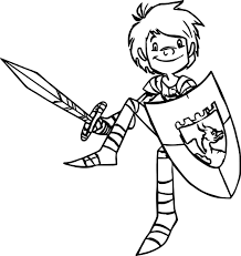 trenk the little knight armor coloring page wecoloringpage