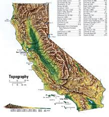 State Map Of Oregon by Topographical Map Of California