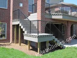 kyle builders decks michigan decks with brick columns