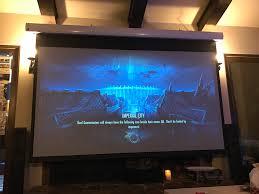 anyone play on a projector u2014 elder scrolls online