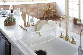 Dish Drying Rack For Sink Tosca Over The Sink Dish Drainer Rack In White Design By Yamazaki