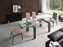 Dining Table And Six Chairs Alfonso Tempered Glass Dining Table With Six Fabric Chairs By