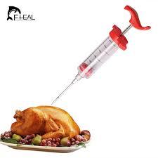 seringue de cuisine fheal barbecue viande seringue marinade injecteur saveur de poulet