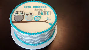 owl baby shower cake family of owls baby shower cake available in your choice flickr