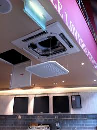 mitsubishi ductless ceiling mount mitsubishi electric pla cassette with automatic drop down grille