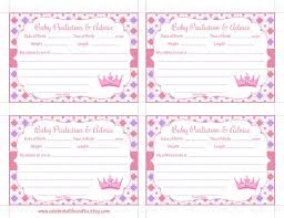 baby shower advice cards princess baby shower prediction and advice cards