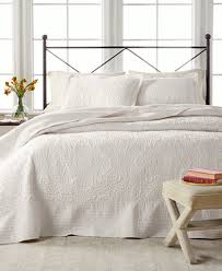 martha stewart collection lush embroidery bedspread sham
