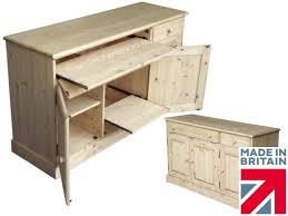 100 solid oak sideboard hidden home office hideaway computer