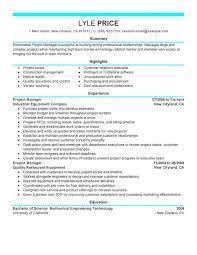 Procurement Resume Sample project manager resume examples senior project manager resume