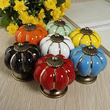 ceramic pumpkins ceramic pumpkins door drawer cupboard pull handles knobs us 2 70