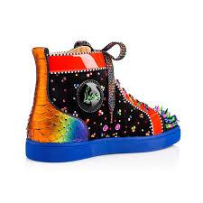 christian louboutin black crystal sneakers mens black louboutin shoes