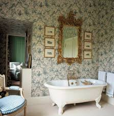 wallpaper bathroom ideas 50 vintage wallpaper ideas the space an incomparable charm of