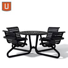outdoor chair with table attached 42 inch round outdoor table with attached seats camden collection