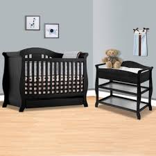 Crib And Changing Table Storkcraft Black Vittoria 3 In 1 Convertible Crib And Aspen